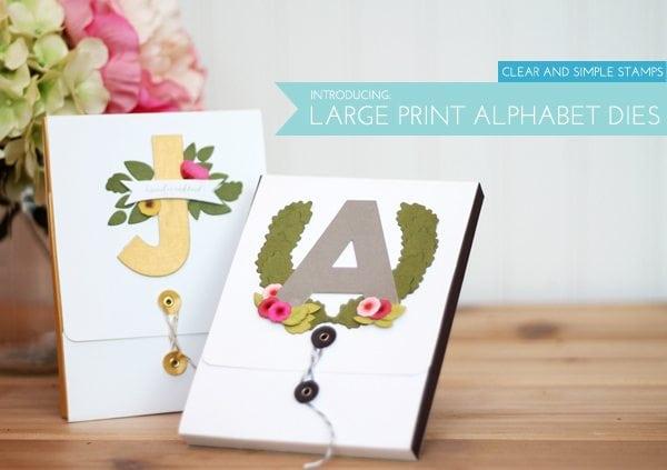 Introducing : Large Print Alphabet Dies | Damask Love Blog