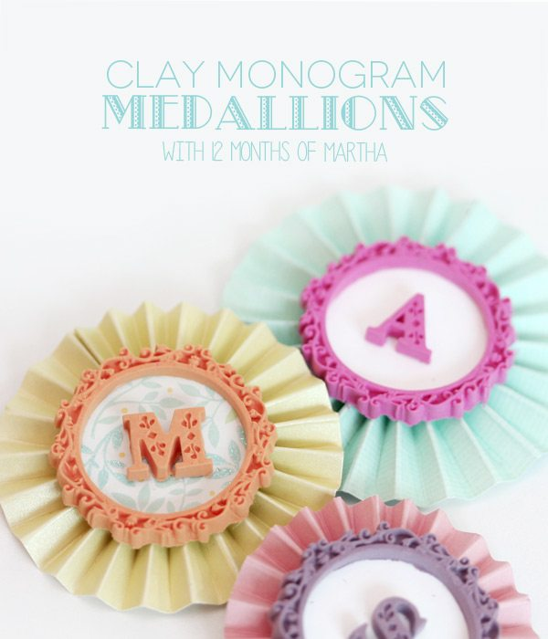 DIY Clay Monogram Medallions with Martha Stewart | Damask Love Blog