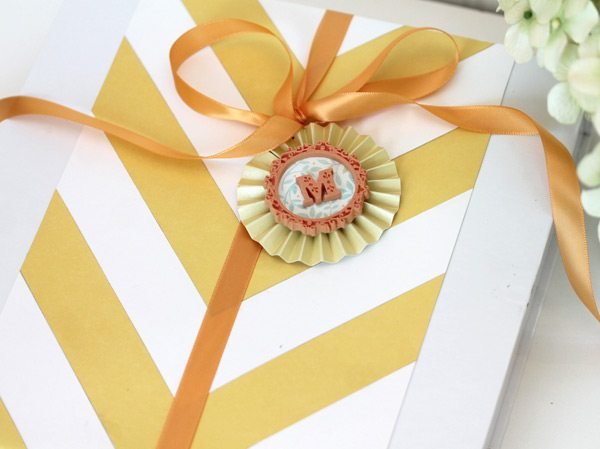 Incredibly Easy Chevron Gift Wrap with Martha Stewart Crafts | Damask Love Blog