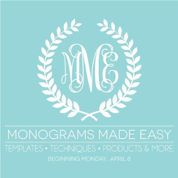 Monograms Made Easy Series   Damask Love Blog