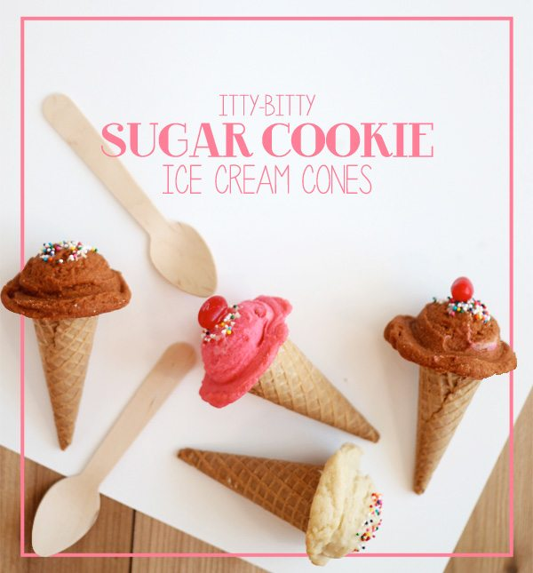 DIY Sugar Cookie Ice Cream Cones | Damask Love Blog