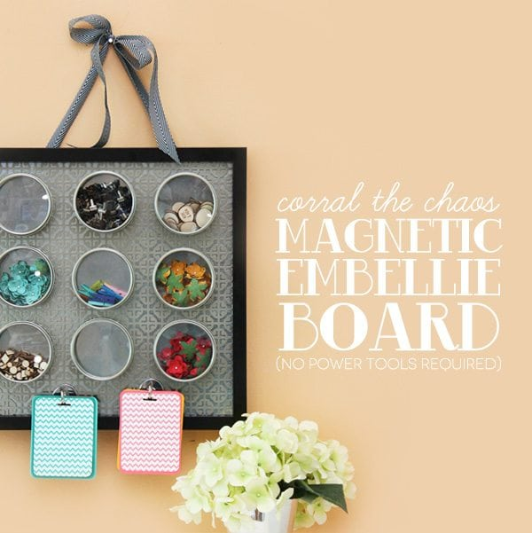 Corral the Chaos: Magnetic Embellishment Board | Damask Love Blog