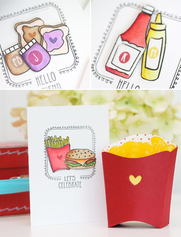 Clear & Simple Stamps Lunch Box Notecards | Damask Love Blog