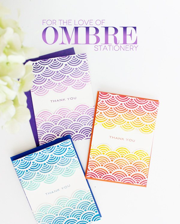 Ombre Stationery with Lil Inker Designs | Damask Love Blog