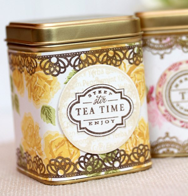DIY Vintage Tea Tins | Damask Love Blog