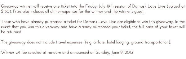 Win Your Seat to Damask Love Live