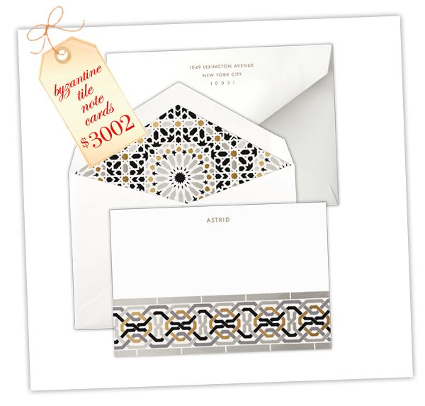 High Society Stationery: Byzantine Tile Notecards | Damask  Love Blog