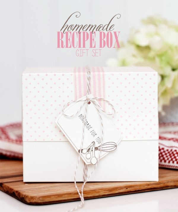 DIY Recipe Box Gift Set | Damask Love Live