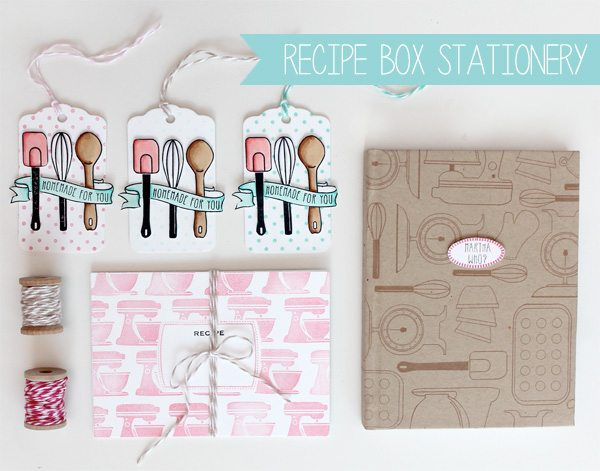 DIY Recipe Box Gift Set | Damask Love Live