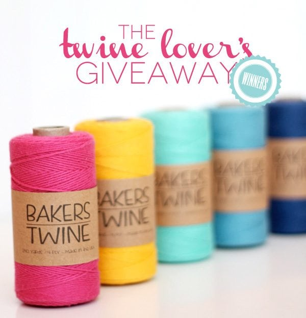 Baker's Stock Twine Giveaway Winners | Damask Love Blog