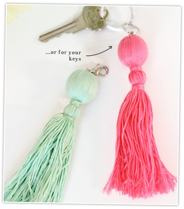 Trade & Made Blogger Challenge: Easy Tassel Charms | Damask Love Blog