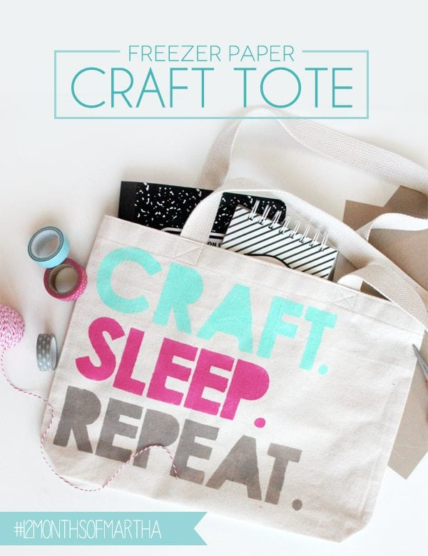 DIY Freezer Paper Tote | Damask Love Blog