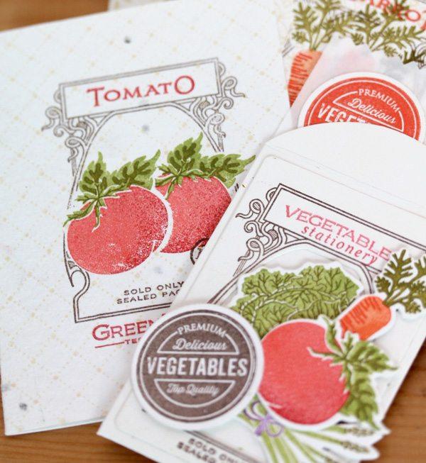 Farmer's Market Stationery | Damask Love Blog