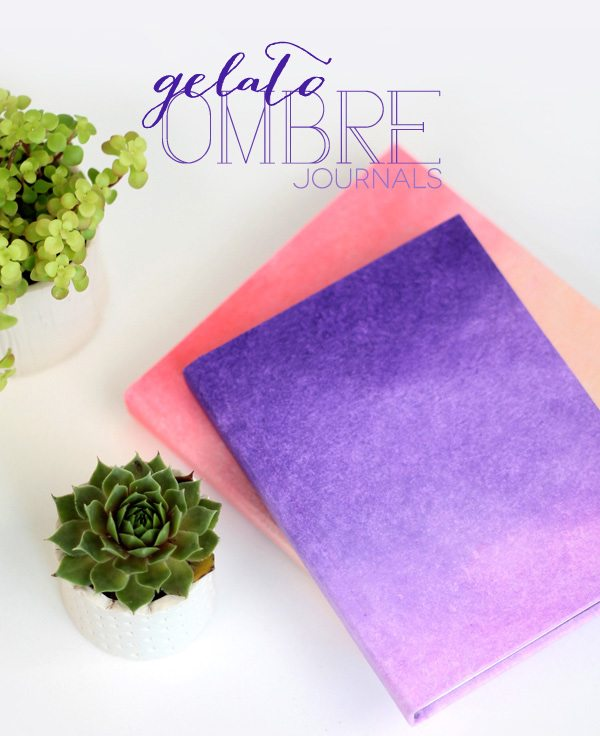 Cool Book Covers For Kids ~ Diy ombre journals damask love