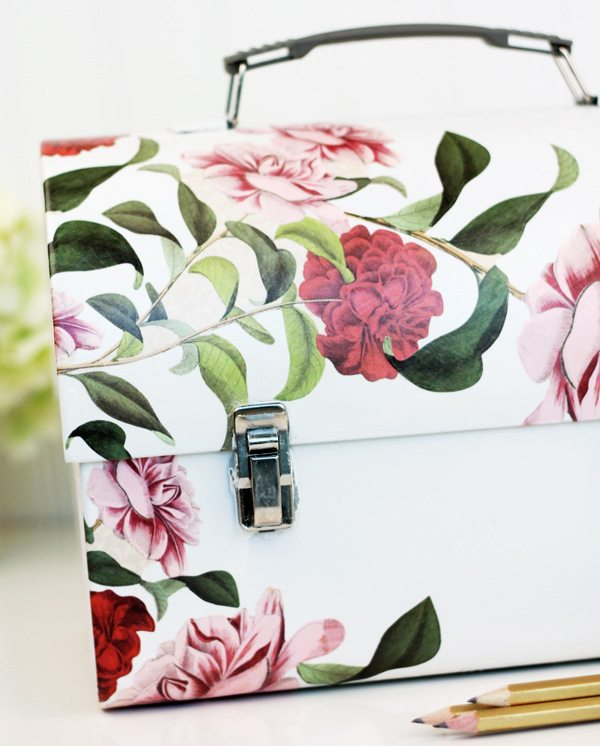 Decoupage Lunch Box Stationery Kit | Damask Love Blog