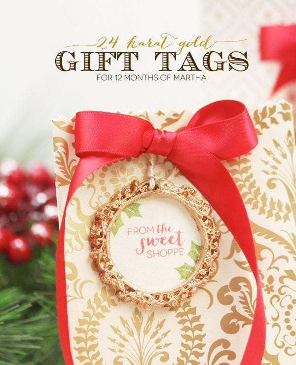 24 Karat Gold Gift Tags | Damask Love Blog