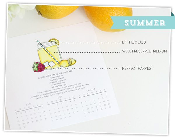 Seasonal Cocktail Calendar |  Damask Love Blog