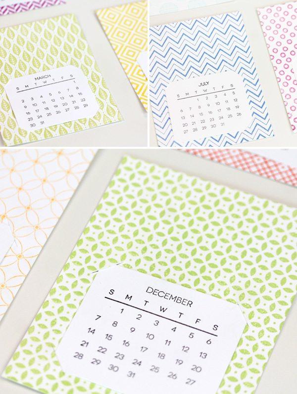 A Simple Stamped Calendar | Damask Love Blog