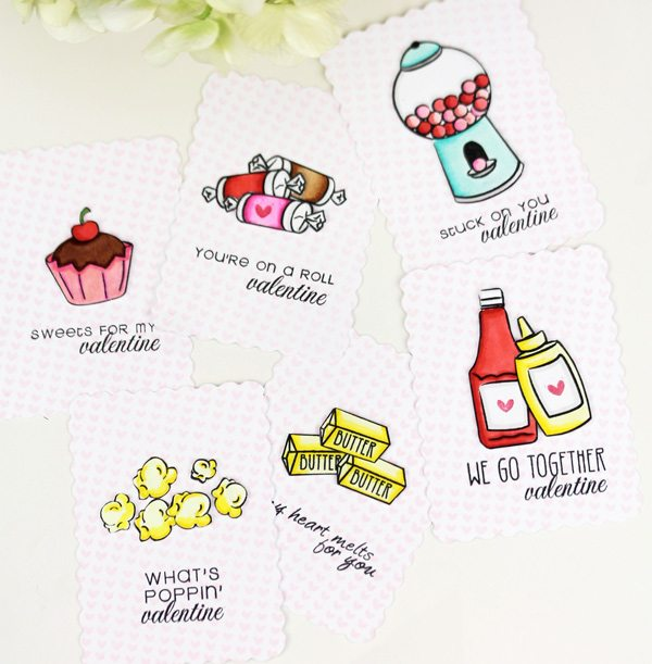 Foodie Classroom Valentines | Damask Love Blog