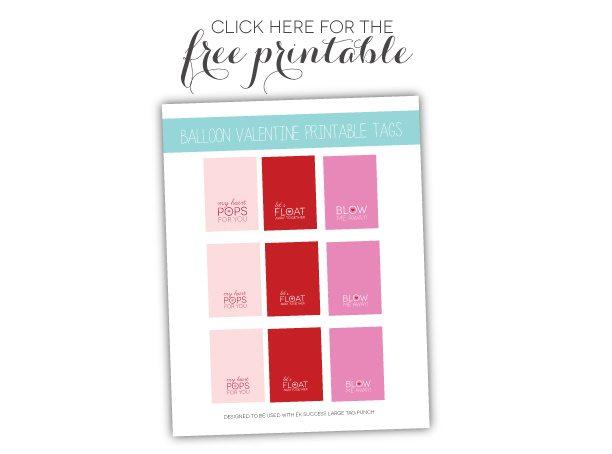 Balloon Tag: Mini Balloon Valentines With Free Printable
