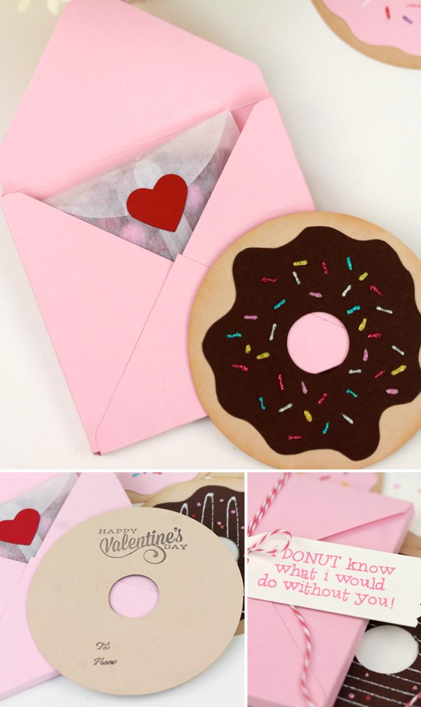 Simple Donut Valentine's | Damask Love Blog