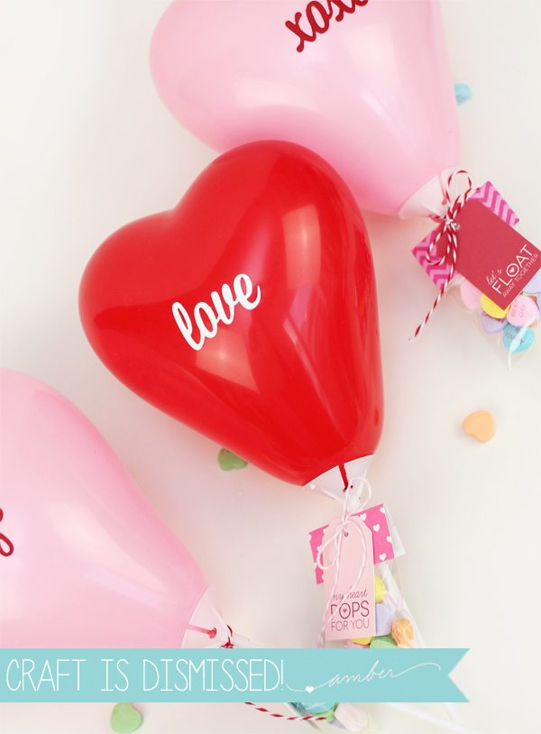 DIY Mini Balloon Valentines with Free Printable | Damask Love Blog