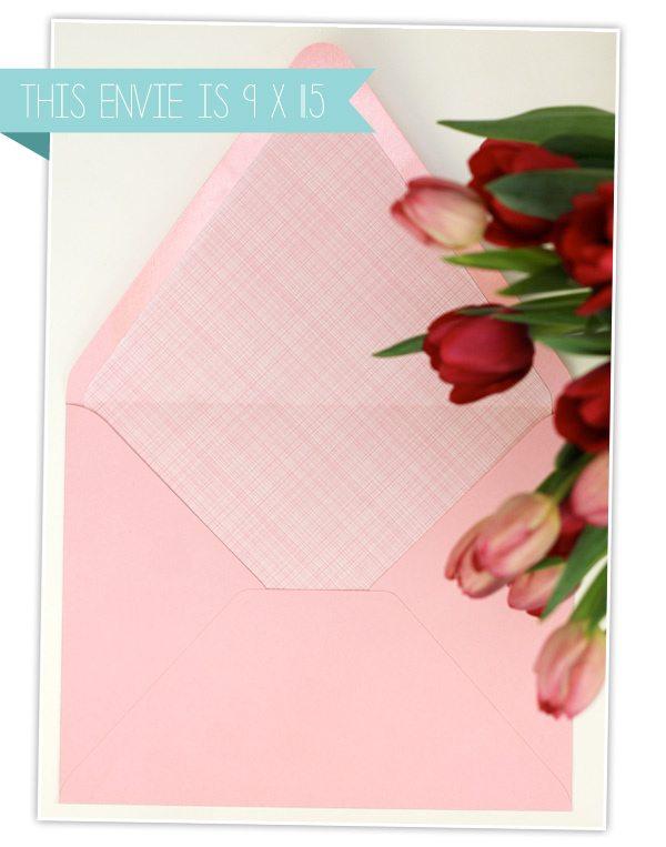 Giant Valentines  Envelope LinersDamask Love