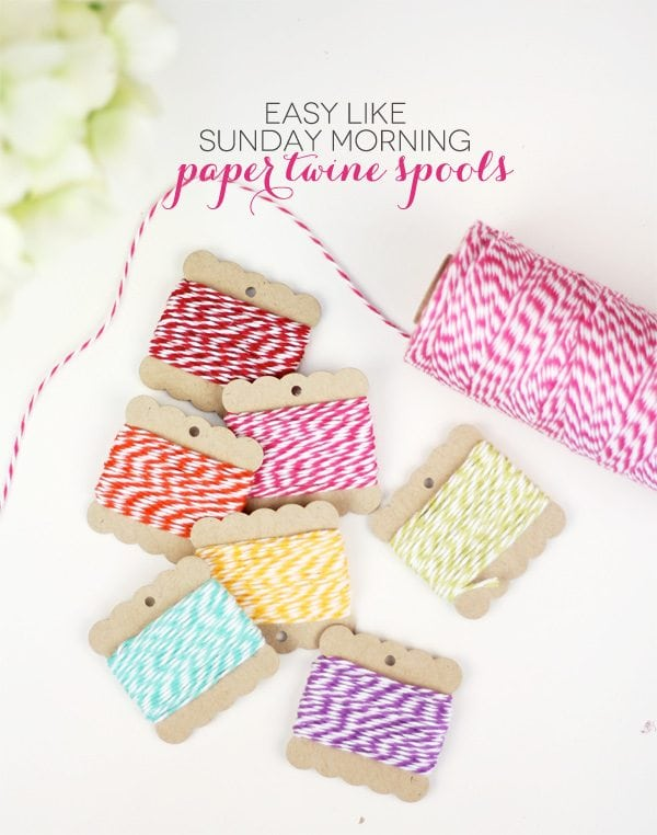 Easy Like Sunday Morning Paper Twine Spools | Damask Love Blog
