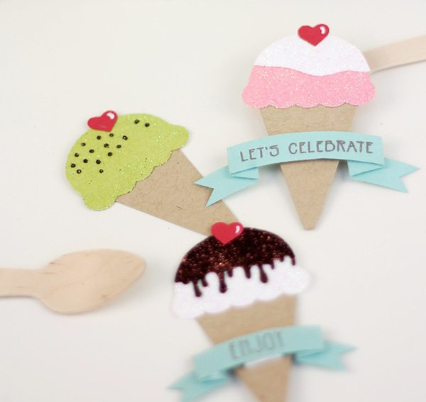 Paper Punch Ice Cream Cones | Damask Love