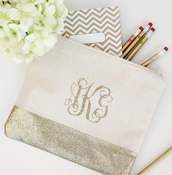 diy monogram pencil bag