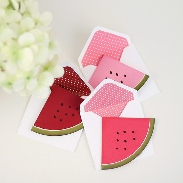 Easy Like Sunday Morning Watermelon Mini Cards | Damask Love