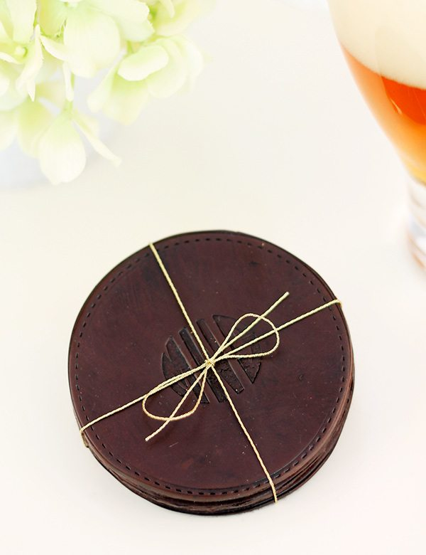 """Design Inspired: """"Leather"""" Coasters 