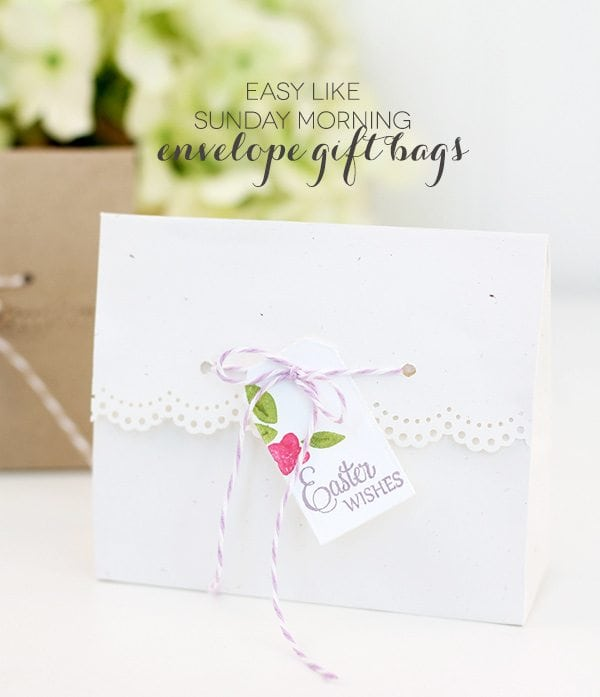 Easy Like Sunday Morning: Envelope Gift Bags |  Damask Love