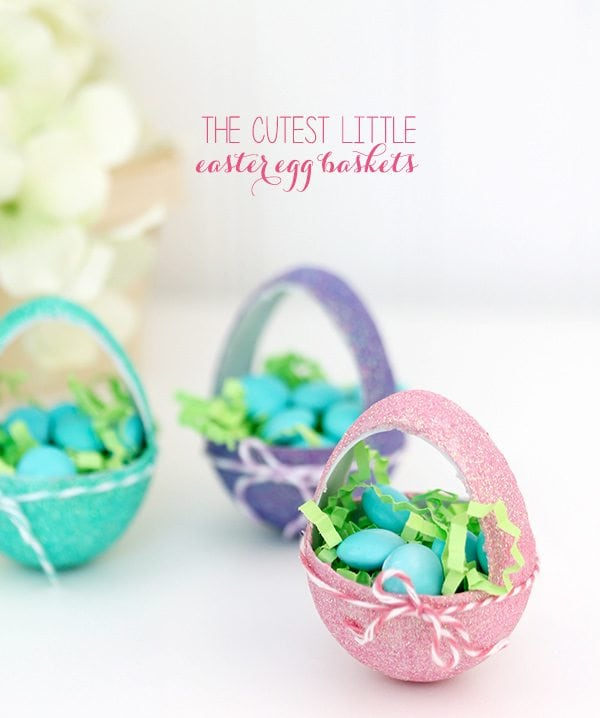 Itty Bitty Paper Mache Easter Egg Baskets | Damask Love