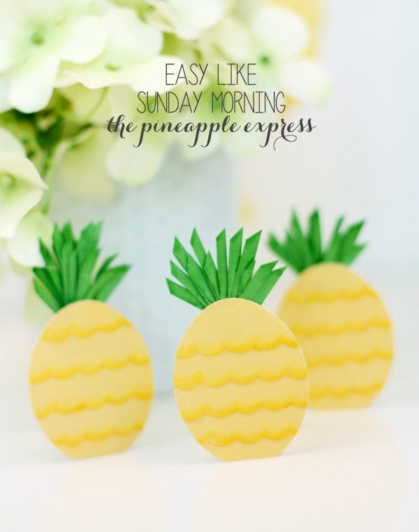 Easy Like Sunday Morning: Paper Punch Pineapples | Damask Love