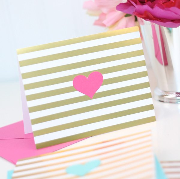 Easy Like Sunday Morning: Foil Striped Stationery