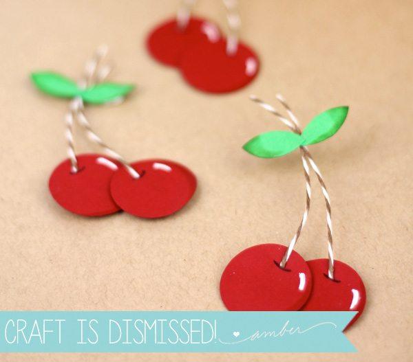 Easy Paper Punch Cherries | Damask Love