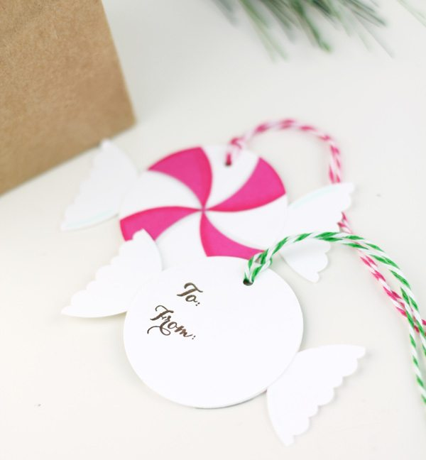 Easy Paper Peppermint Gift Tags   Damask Love