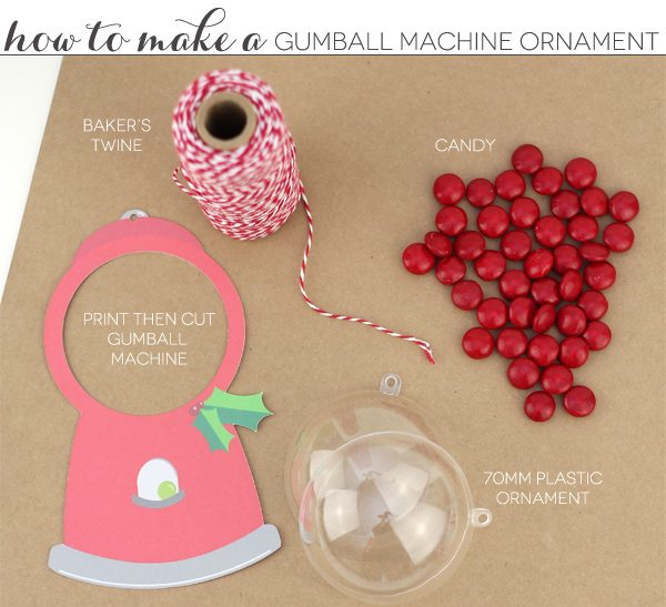 Print Then Cut Gumball Machine Ornament | Damask Love