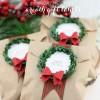DIY Mini Boxwood Wreath Gift Labels | Damask Love
