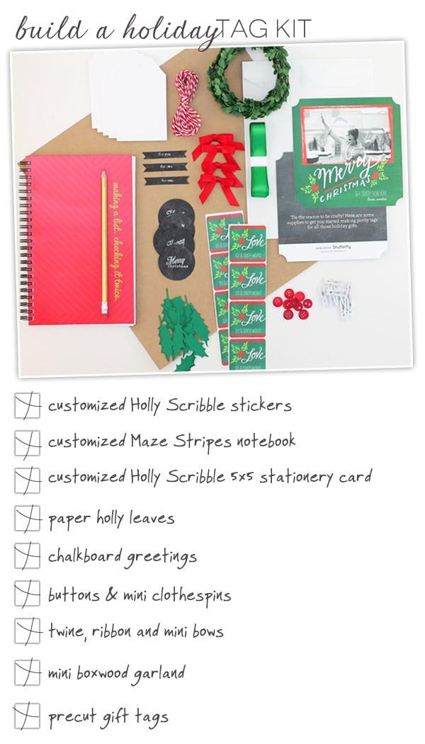 a diy holiday tag kit damask love