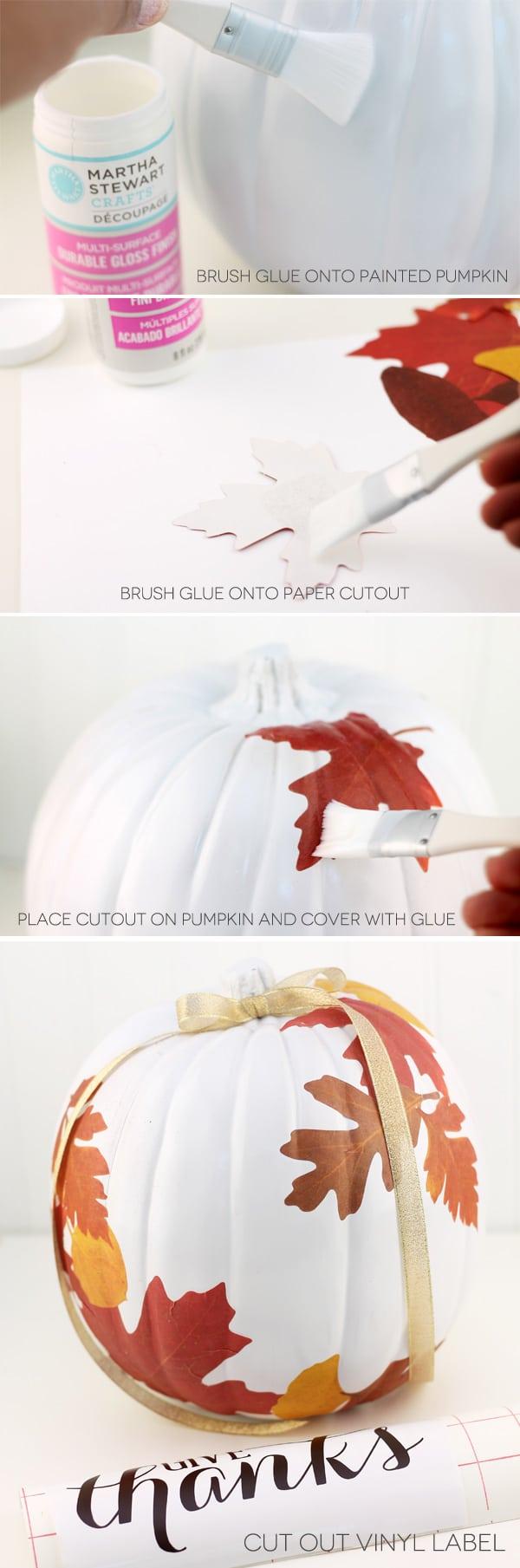 DIY Decoupage Autumn Craft Pumpkin | Damask Love