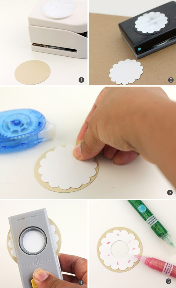Easy Like Sunday Morning: Paper Punch Donut Tags