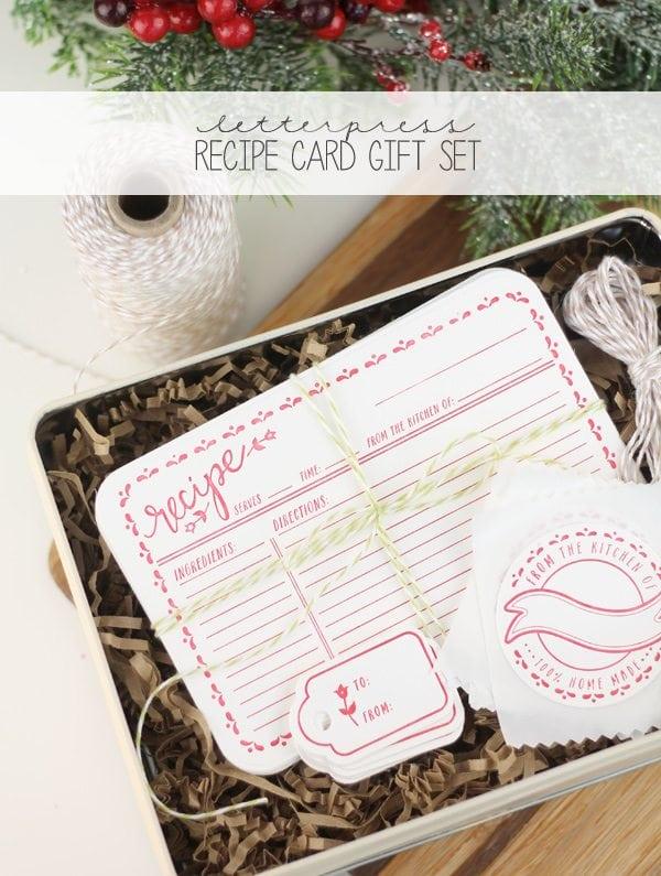 Letterpress Recipe Cards