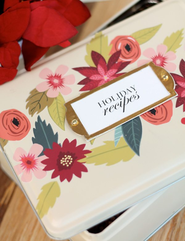 Rifle Paper Co. Inspired Recipe Tin | Damask Love