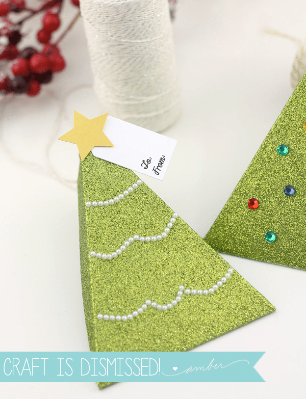 Easy Christmas Tree Treat Boxes | Damask Love
