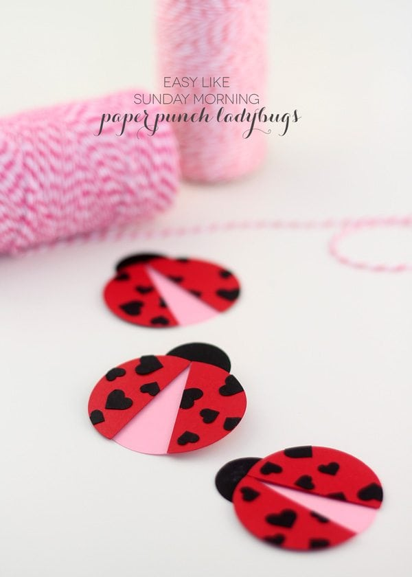 Easy Paper Punch Valentine Ladybugs | Damask Love