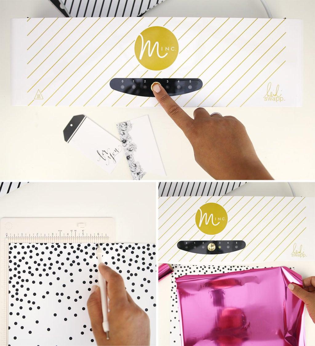 Minc Foiled Notebooks Step 1