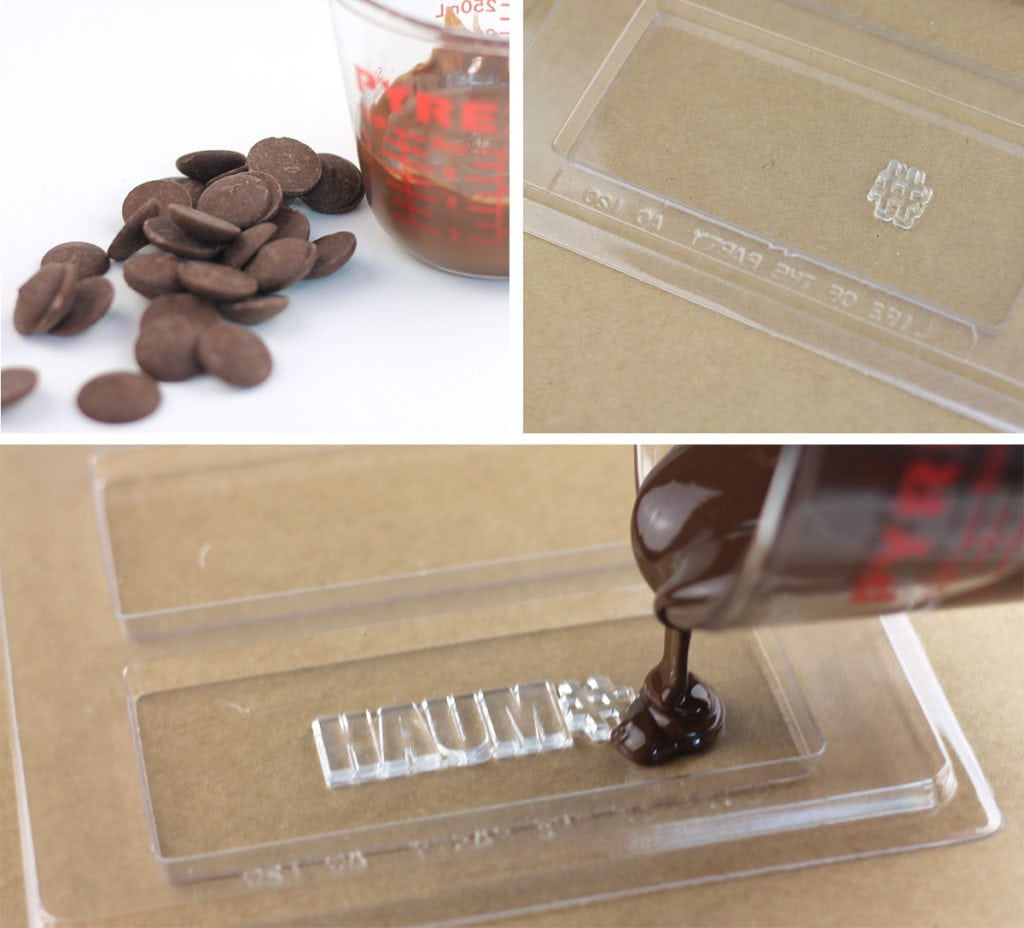 Easy DIY Stamped Chocolate Bars | damask love