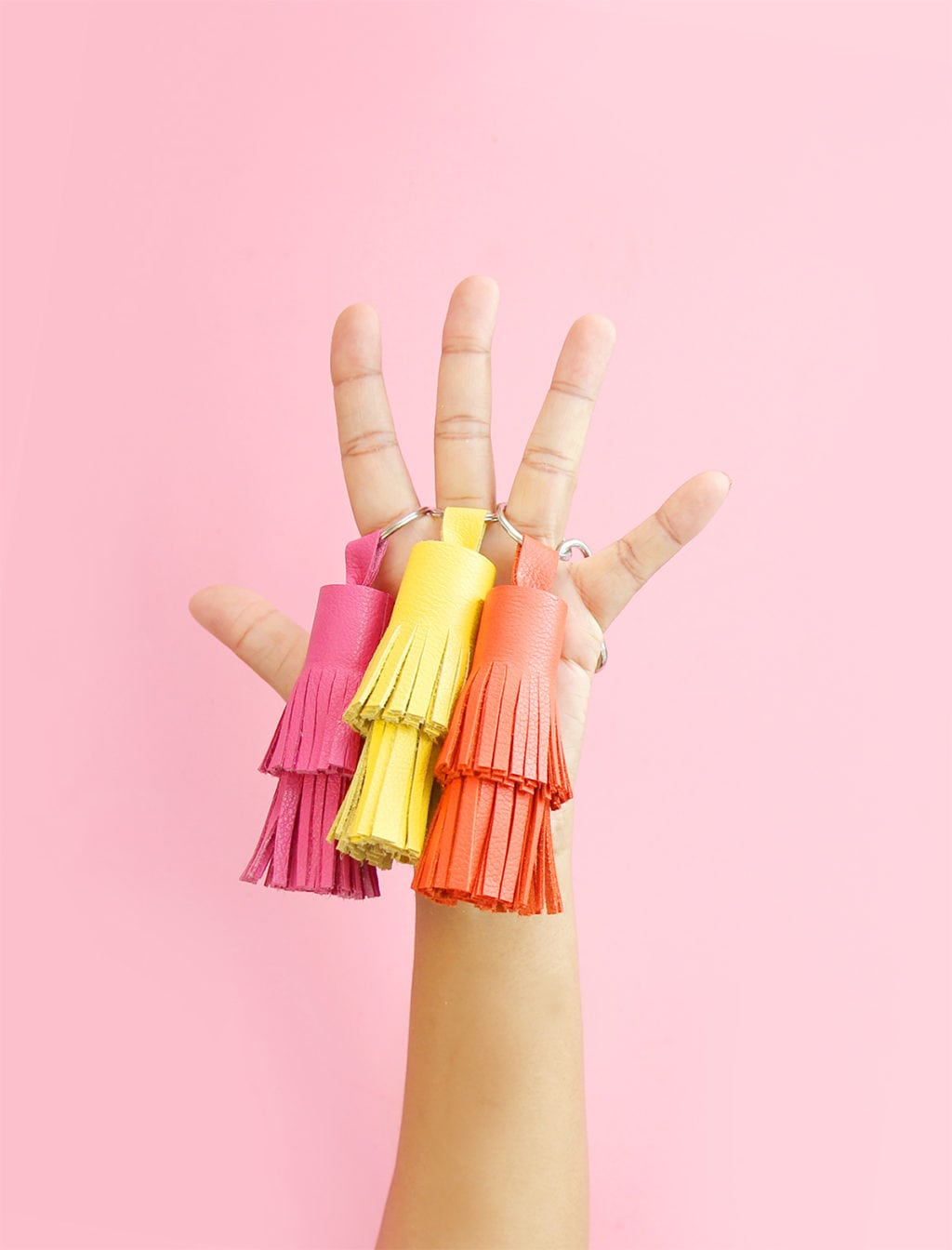 DIY Leather Tassel Keychains